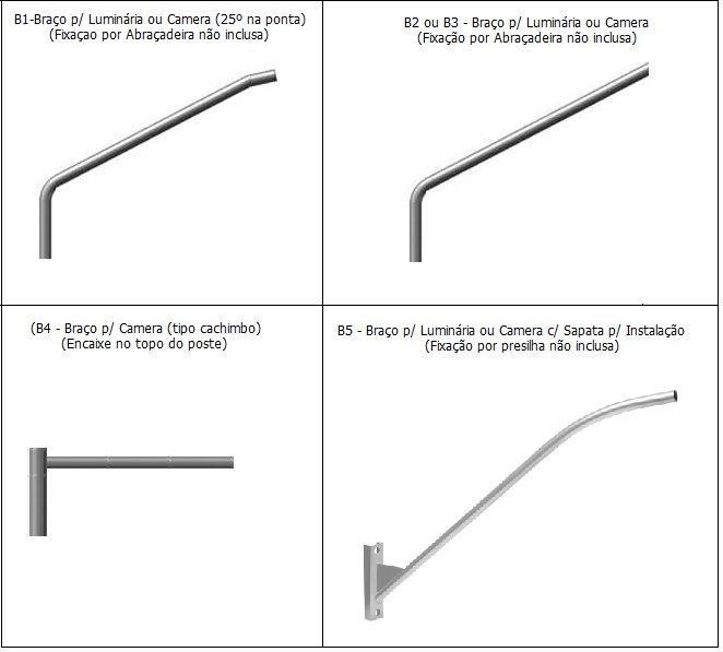 Braço para luminaria de poste preço