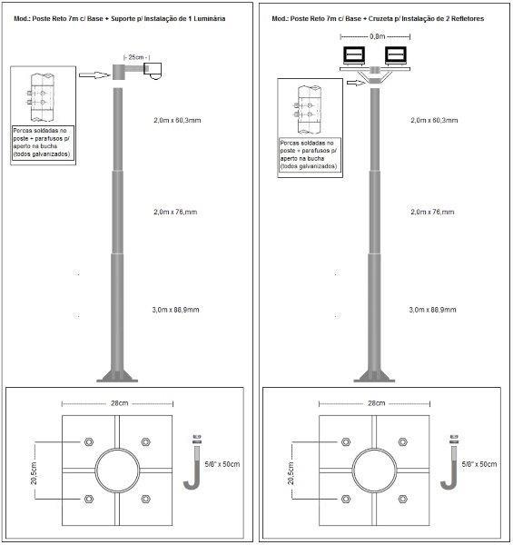 Fabrica de postes de iluminação