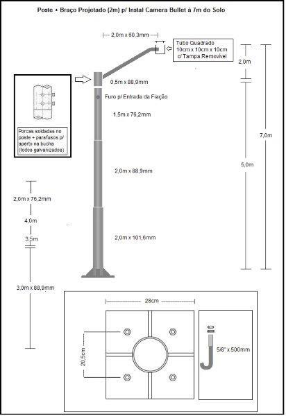 Postes para instalar cameras