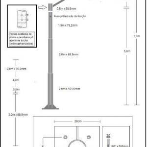 Poste para instalação de cameras
